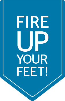fire up your feet logo